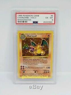 Charizard Rare Shadowless Base Set Holo Pokemon Card PSA Original Foil 4/102