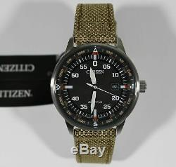 Citizen Eco-Drive Aviator Nylon Pilot's Men's Watch BM7390-14E