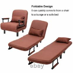 Convertible Sofa Bed Folding Arm Chair Sleeper Leisure Recliner Lounge Couch New