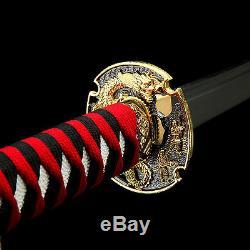 Dragon Katana, Handmade Full Tang High Carbon Steel Real Japanese Samurai Sword