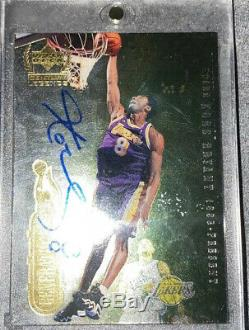 Dual Auto Upper Deck Century Legends Michael Jordan Kobe Bryant Autographed Card