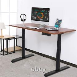Electric Height Adjustable Standing Desk Frame Dual Motor Memory Touch Control