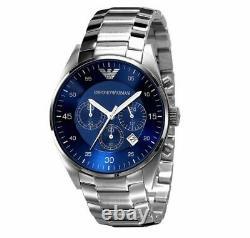 Emporio Armani Men's Watch Ar5860 Silver Chronograph Certificate New Original