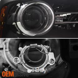 Fit 13-18 Ram 1500 2500 3500 Original Black LED Projector Headlights Replacement