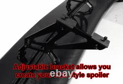 Fits Honda 57 Unpainted ABS GT Style JDM Rear Span Trunk Spoiler Wing Universal
