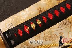 Folded Steel Bloody Red Blade Japanese Samurai Katana Sword functional Sharp