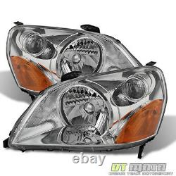 For 2003 2004 2005 Honda Pilot Headlights Headlamps Replacement 03-05 Left+Right