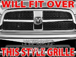 For Dodge Ram 1500 09-12 CHROME Snap On Grille Overlay Grill Covers Front Insert