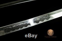 Handmade Battle Ready Japanese Katana Samurai Folded Steel Sword Full Tang Sharp