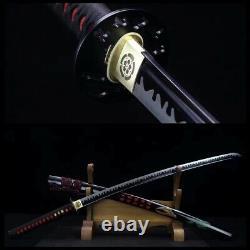 Handmade Black T1095 steel Japanese Samurai Sword katana Full Tang Blade Sharp