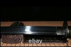 Handmade Folded Steel Japanese Katana Samurai Sword Full Tang Black Sharp Blade