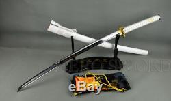 Handmade Japanese Samurai Katana Sword 1060 High Carbon Steel Full Tang Sharp