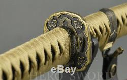 Handmade Japanese officer saber Samurai Katana Sword Full Tang Tachi Very Sharp