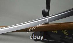 High Carbon Steel Full Tang Ninja Japanese Samurai Katana Sword Shirasaya Sharp
