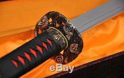High Quality Japanese Samurai Sword Naginata Clay Tempered Blade Very Sharp