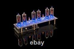 IN-14 DIY KIT Nixie Tubes Clock RGB USB Musical WITH TUBES 12/24H GRA & AFCH