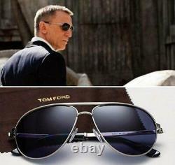 JAMES BOND SKYFALL Tom Ford MARKO FT0144 18V Silver Blue Sunglasses Sonnenbrille