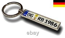 KFZ Kennzeichen Schlüsselanhänger Mini Nummernschild Anhänger Individuell Auto