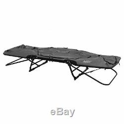 Kamp-Rite Original Tent Cot Folding Camping and Hiking Bed for 1 Person, Gray