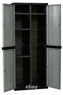 Kingfisher Large Garden Storage Tool Cabinet Garage Shed Shelves Lockable