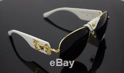 LIMITED EDITION Genuine VERSACE Runway Aviator White Sunglasses VE 2150Q 134187
