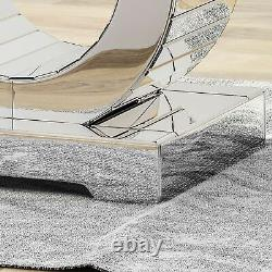 Lance Glam Mirrored Accent Table