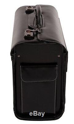 Large Leather Pilot Case Business Laptop Travel Flight case Bag Hand Luggag 6913