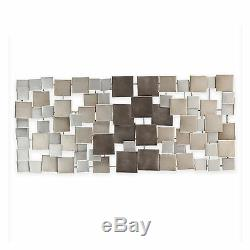 Large Metal Sculpture Abstract Modern Silver Wall Art Contemporary Modern Decor