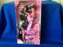 Lot of 3 Jewel Hair Mermaid Barbie Dolls-Barbie, Midge and Teresa-1995 BRAND NEW