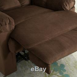 Manual Recliner Fabric Recliner Chair Heavy Duty Overstuffed Home Theater Seat