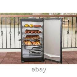 Masterbuilt Outdoor Barbecue 30 Digital Electric BBQ Meat Smoker Grill, Black
