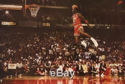 Michael Jordan Famous Foul Line Dunk Vintage Sports Poster Print 23.5x35 inch