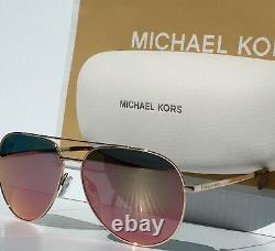 NEW MICHAEL KORS AVIATOR w ROSE GOLD Mirrored RODINARA Sunglass MK5009