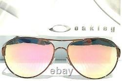 NEW Oakley Caveat POLARIZED Dark Rose Gold 60mm Aviator Womens Sunglass 4054