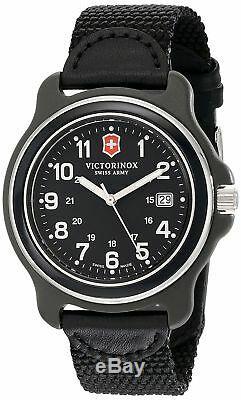 NEW Victorinox Swiss Army Men's 249087 Original XL Swiss Quartz Black Watch