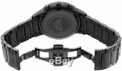 New Original Emporio Armani Men's Watch Ar2453 Black Chronograph Certificate