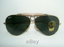 New RAY BAN Sunglasses AVIATOR SHOOTER Gold RB 3138 001 Glass G-15 Lenses 58mm