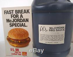 ONE OF A KIND, MICHAEL JORDAN/McDonald's MCJORDAN BBQ Sauce BRAND NEW
