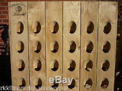 ORIGINAL Champagne Riddling Rack f. 60 Bottles + Branding / Nature Oak Wine Rack