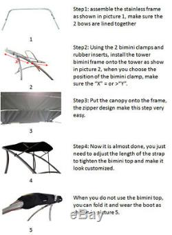Origin Wakeboard Tower Bimini 1470V Black 5 Yrs No Fading No Deformation