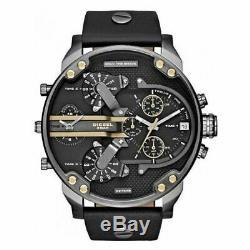 Original Diesel Herren Uhr DZ7348 XL Mr Daddy 2.0 Echt Leder Neu & Ovp