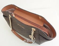 Original Michael Kors tasche handtasche jet set travel chain tote braun neu