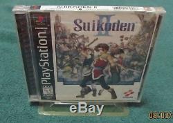 PS1 Suikoden II Brand New Factory Sealed ORIGINAL Black-label Game MINT