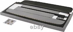 Queen Size Platform Bed Frame Upholstered Headboard Tufted Beds Wood Frame, Gray