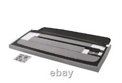 Queen Size Platform Bed Frame withTufted Headboard Gray Upholstered Bed Wood Frame