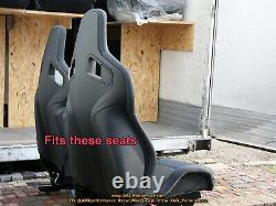 RECARO Sportster CS Black Cloth Upholstery kit Fabrics brand new original