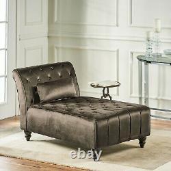 Rafaela Tufted New Velvet Chaise Lounge