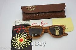 Rayban B&L Vintage Wayfarer Woodies Wood Brand New USA B15 50mm Pinewood