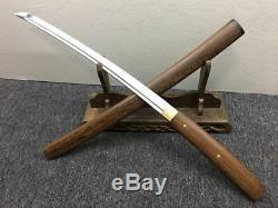 Rosewood Sharp Japanese Sword Shirasaya Wakizashi + Free Sword Bag