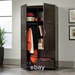 Sauder Select Wardrobe Armoire in Cinnamon Cherry